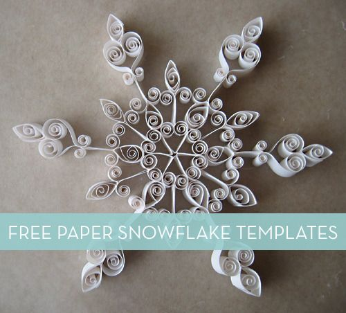 Free Paper Snowflake Templates Diy Holiday Projects Pinterest