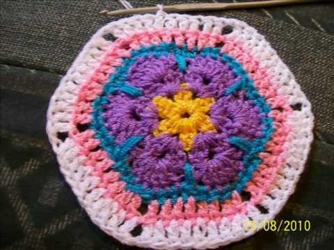 african flower / paperweight granny: free crochet patterns | make ...