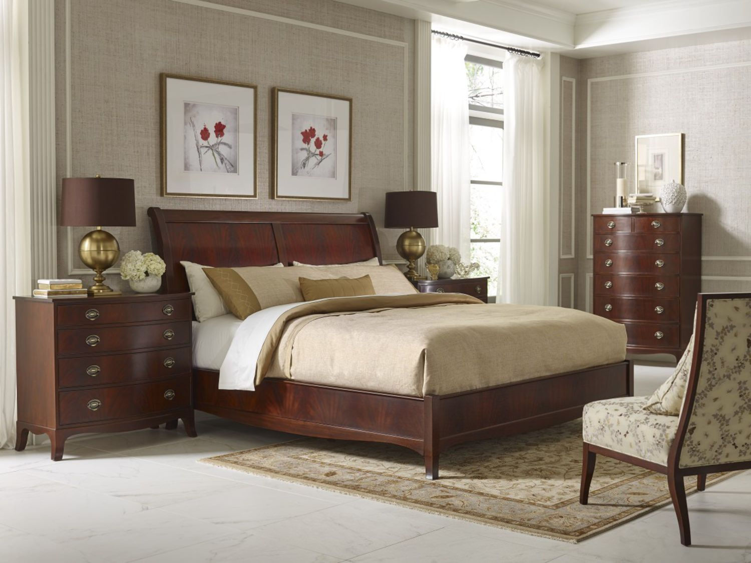 Best Classic Whitehall Sleigh Bed Furniture Wood Bedroom 400 x 300