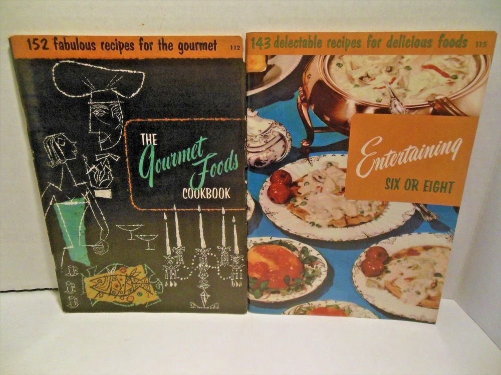 1955 lot culinary arts cookbook the gourmet foods and