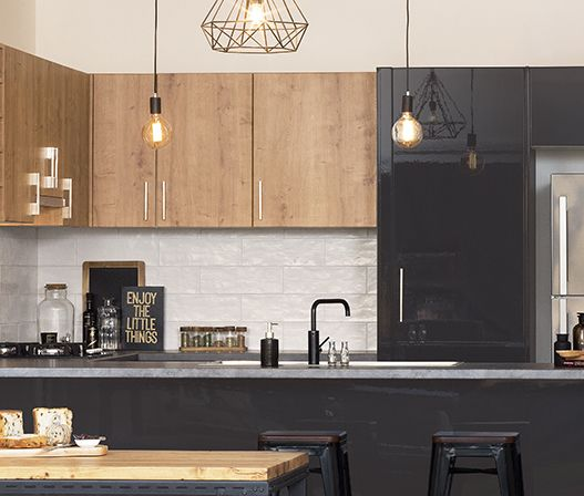 kaboodle kitchen spiced oak rustic contemporary style kitchen kitchen renovation house styles on kaboodle kitchen enoki id=82237