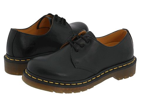 dr martens 1461 w black smooth  zappos free shipping