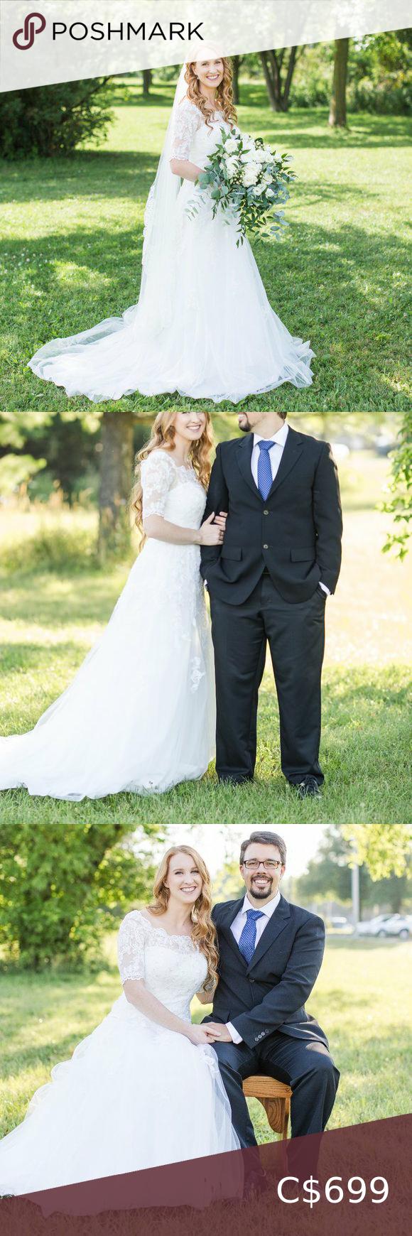 Off-white lace wedding dress Off-white lace weddin