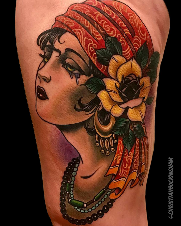 Gypsy Girl Tattoo done by Christian Buckingham # ...