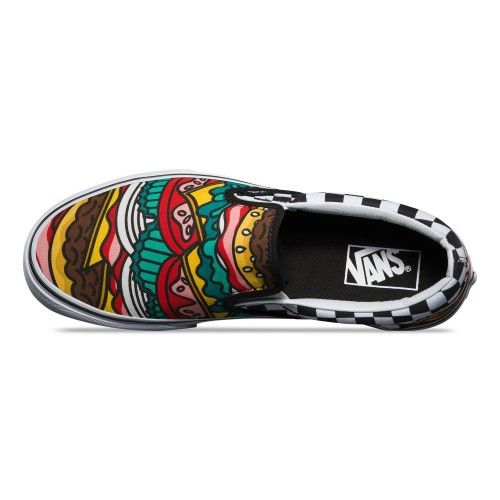 a9a81794287 Vans Late Night Classic Slip-On Shoes (Late Night) Burger Check - Vans UK  Official Online Store