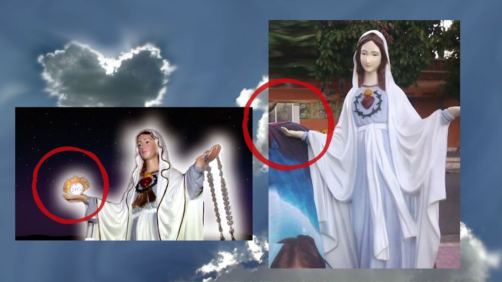 Santuário das Aparições de Jacareí SP. são falsas. são verdadeiras, farsa, photoshop
