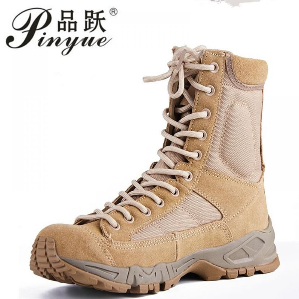 Shoppingonline New Sport Army Men Combat Tactical Boots Outdoor Hiking Desert Leather Ankle Boots Military Male Co Combat Shoes Ankle Boots Men Tactical Boots