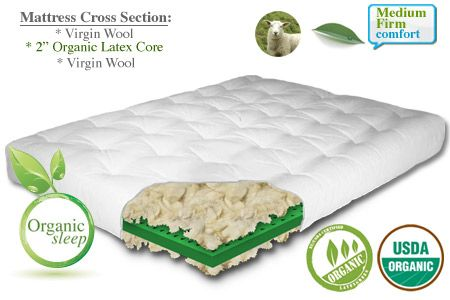 Wool Futon Mattress Los Angeles Natural And Latex Ecopure