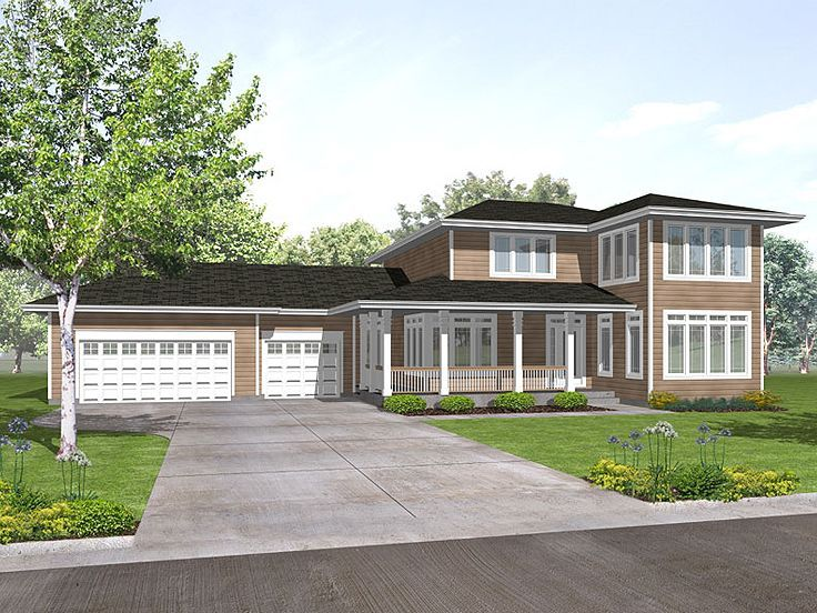 Beautiful 3 -bed Contemporary Home Part - 30: 016H-0028: Contemporary Home Plan; 3 Bedrooms, 2.5 Baths