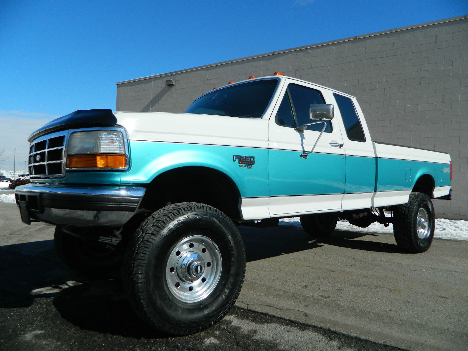 Lifted 1995 Ford F250 Supercab Longbed XLT 4X4 5 Speed Manual 7.3  Powerstroke DIESEL Lifted Trucks