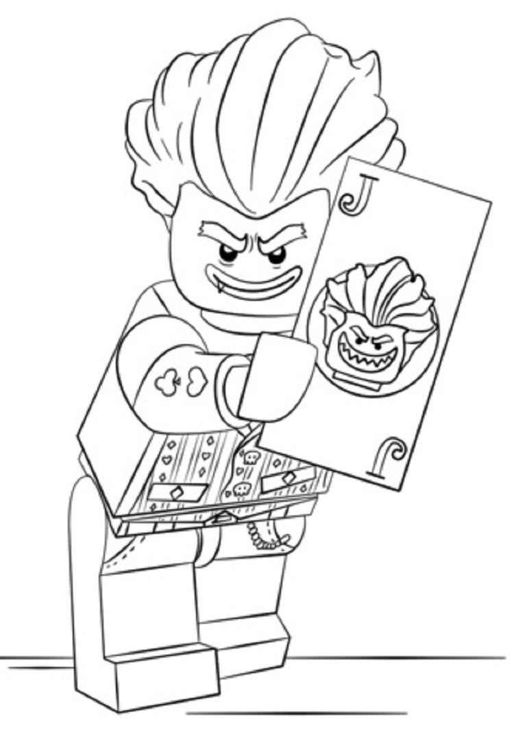Lego Coloring Pages Joker Lego Coloring Pages Lego Coloring