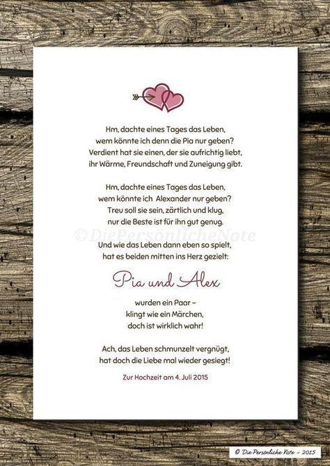 Gastgeschenke - Druck/Print: Individuelles Liebesgedicht ...