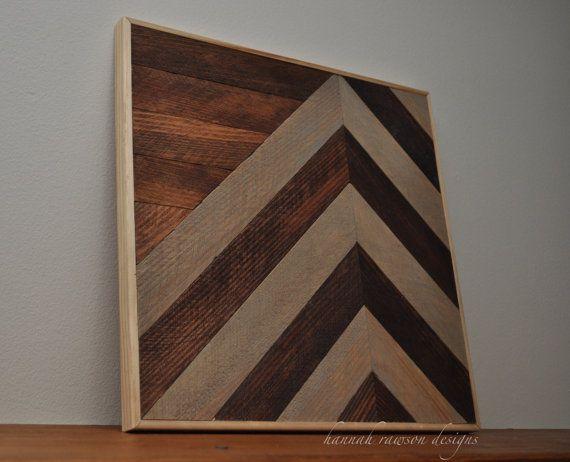 Rustic Boho Chevron Wood Wall Art 12 X 12 Wood Plank Art Wood Wall Art Chevron Wall Art