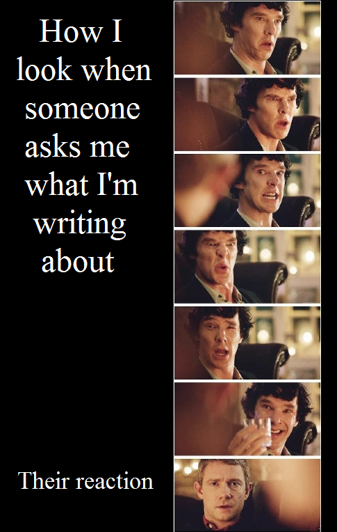 Image result for writers explaining your books memes