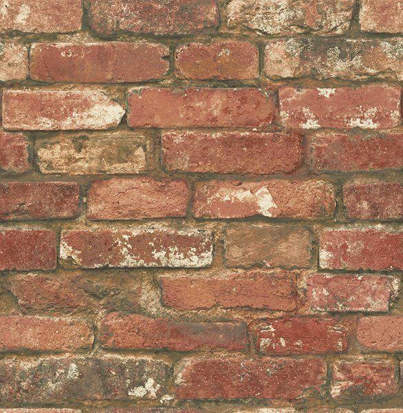 Nuwallpaper West End Brick Wallpaper Rona In 2020 Exposed Brick Wallpaper Red Brick Wallpaper Brick Wallpaper