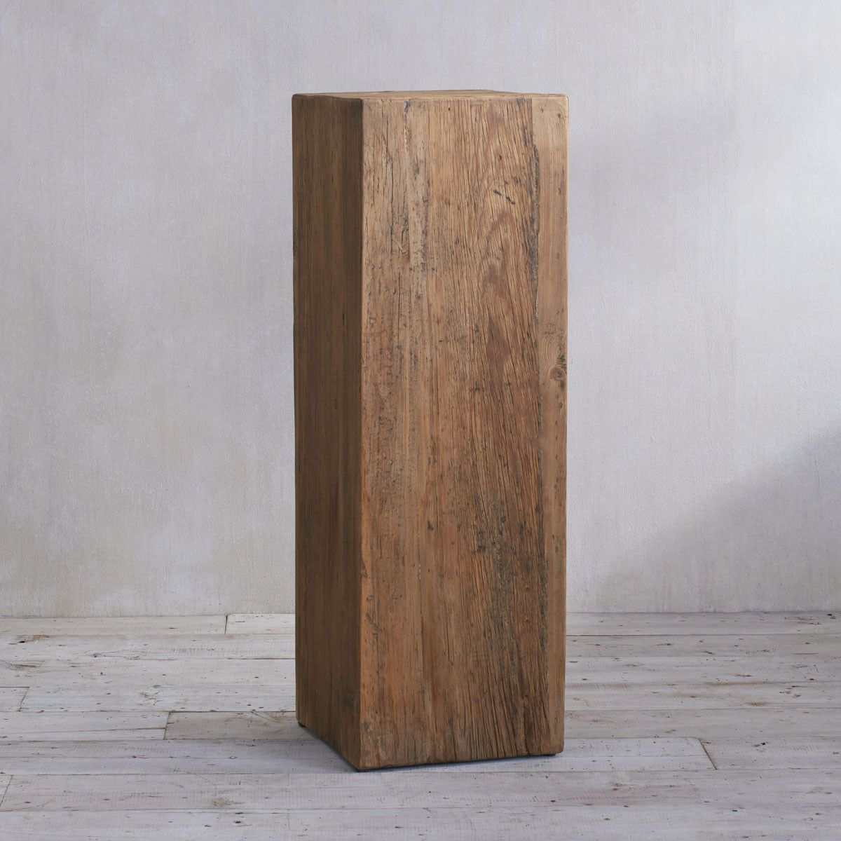 Eco Pedestal Tall Short Pedestal Display Stand Wisteria Wood Pedestal Table Stool Sustainable Furniture