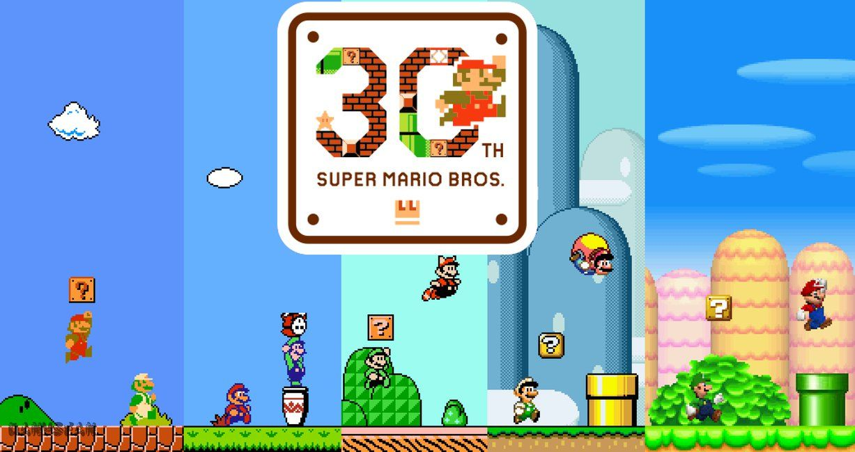 Super Mario Bros 30th Anniversary Fanmade Poster by DanVsFan