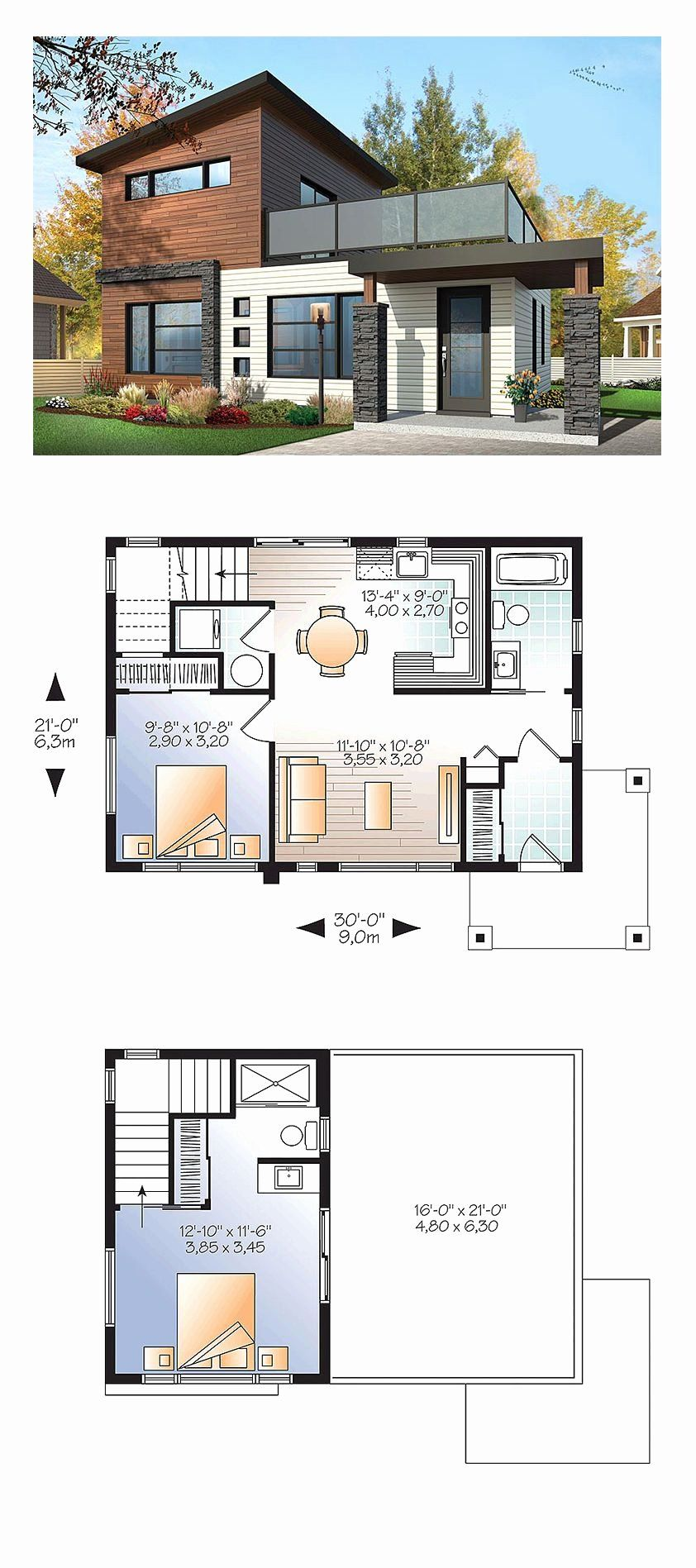 Sims 3 Modern House Ideas Awesome Small Home Design Plan 9 4 8 2m With 4 Bedrooms Untung Best In 2020 Modern House Floor Plans Sims 4 Modern House Modern House Plans