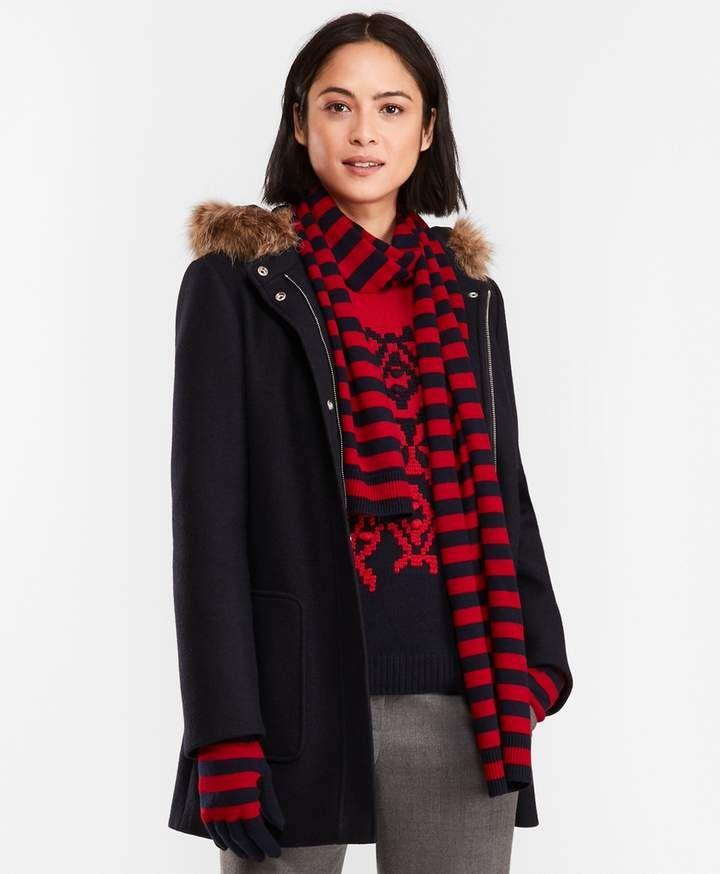 efa5f695c9c2 Brooks Brothers Double-Knit Wool-Blend Coat