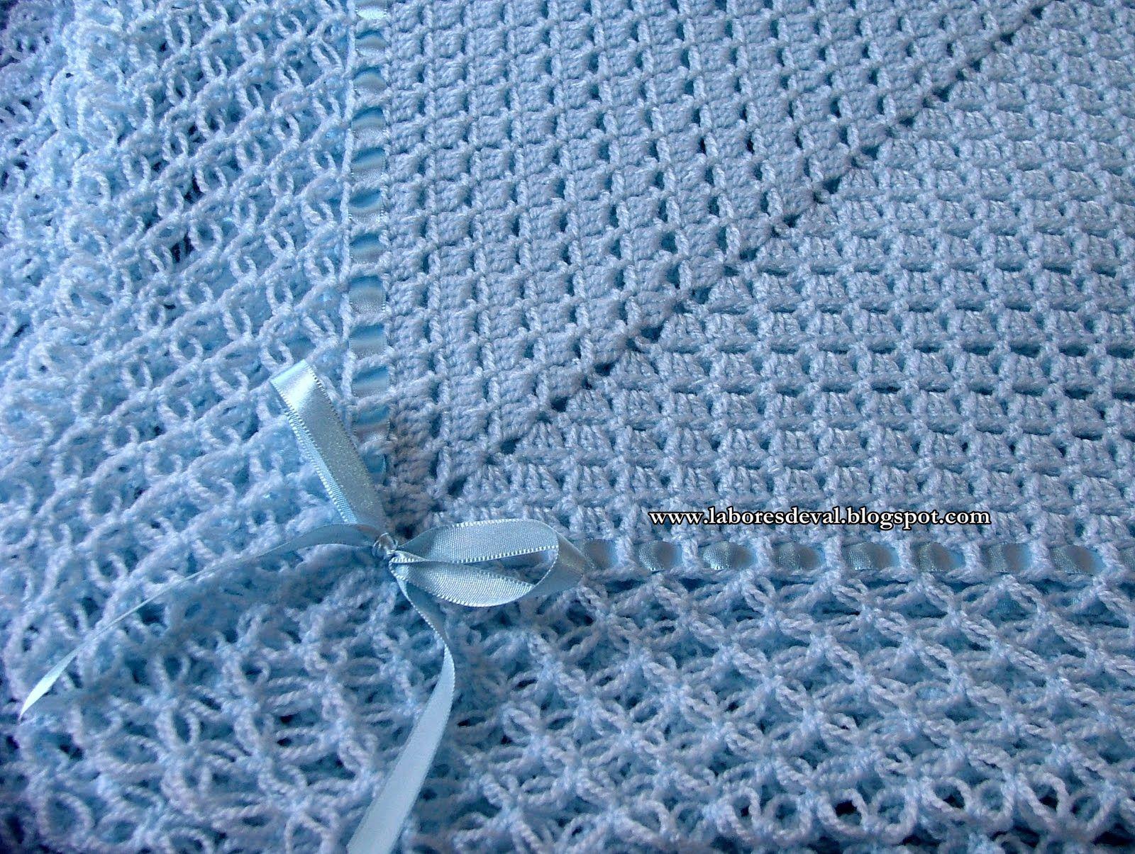Labores de val manta para beb crochet para ni os - Labores de crochet para bebes ...