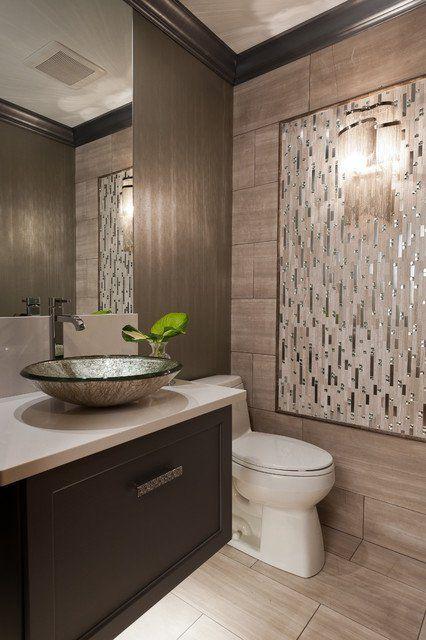 25 modern powder room design ideas modern powder rooms for Modern powder room design