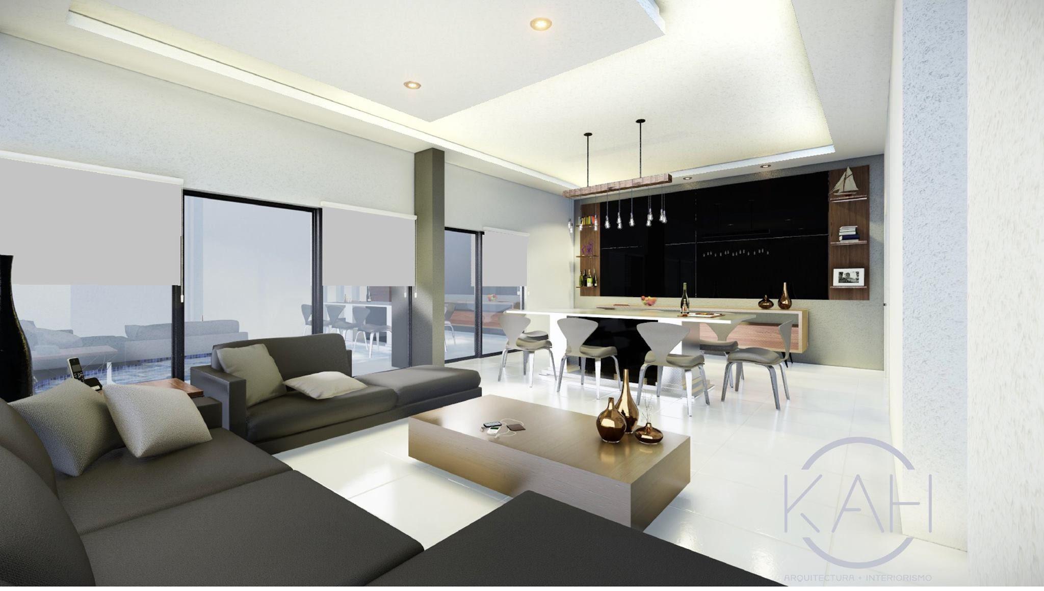 Diseño de Sala-Comedor #decoraciondeinteriores #diseño #decoracion ...