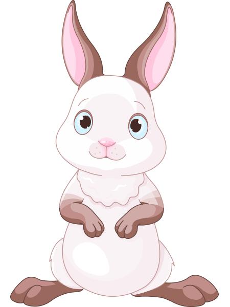 Adorable Rabbit Sheep Illustration Animal Icon Rabbit Painting
