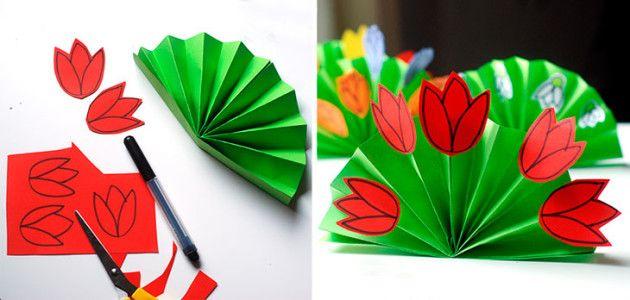 manualidades_infantiles_para_hacer_en_primavera_ramo_de_flores