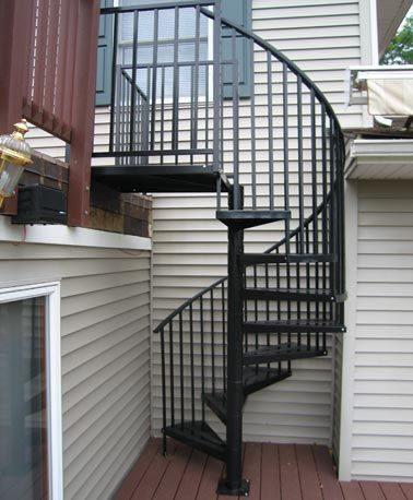 Best Exterior Spiral Staircase Kits Custom Metal Spiral 400 x 300