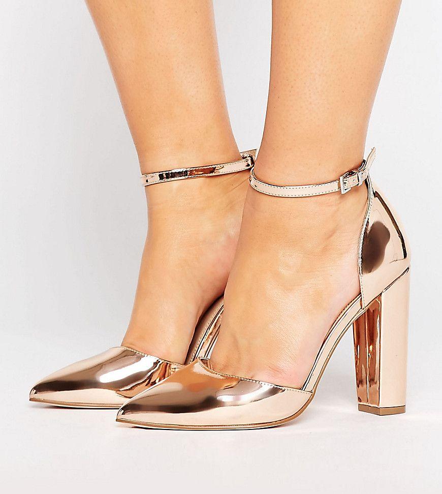 ASOS PENALTY Wide Fit Pointed Heels