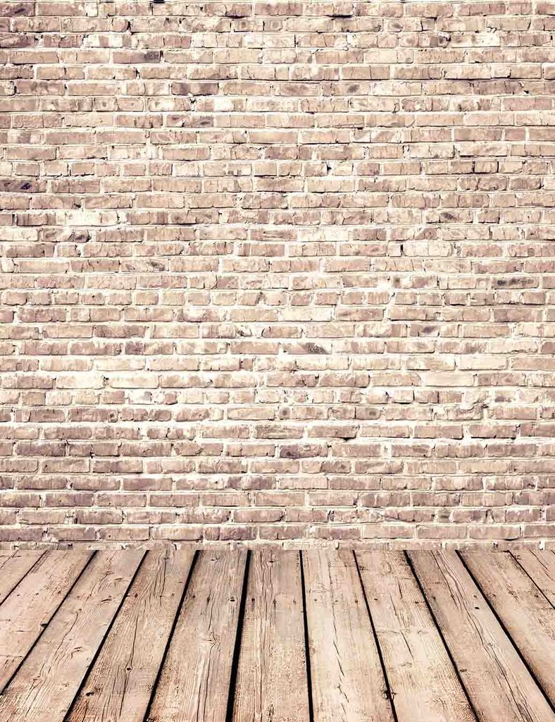 Senior Red Brick Wall Texture With Old Wood Floor Backdrop For