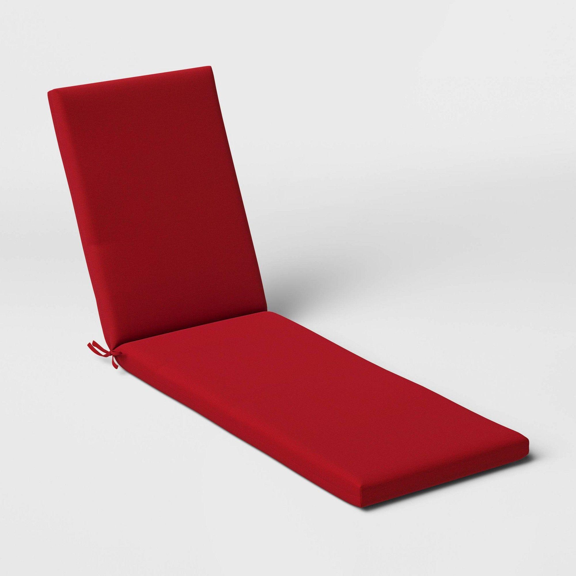 Woven Outdoor Chaise Cushion Duraseason Fabric Red Threshold Outdoor Chaise Cushions Chaise Cushions Cushions
