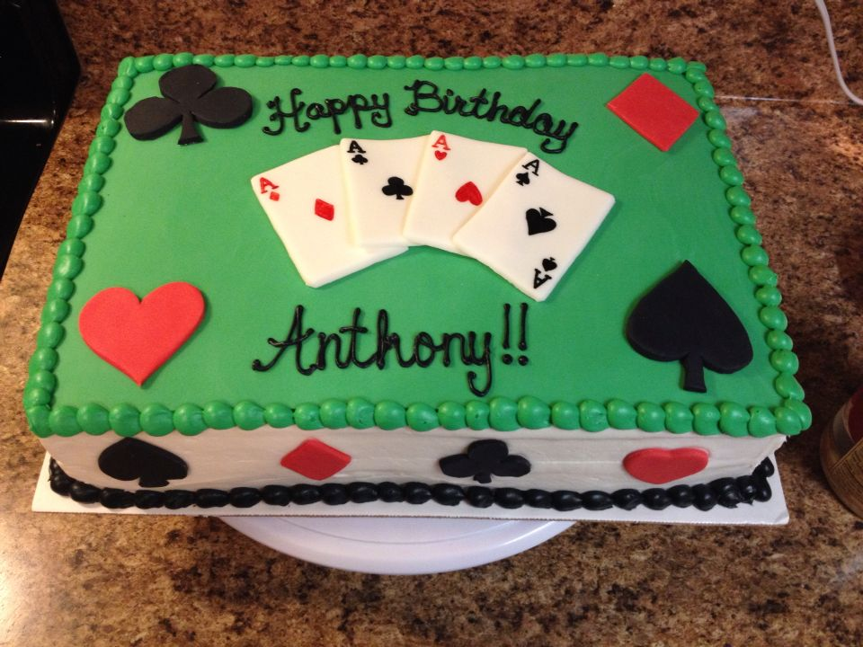 Cake Designs Playing Cards : Playing cards cake Aces Spades Hearts Diamonds My Cakes ...