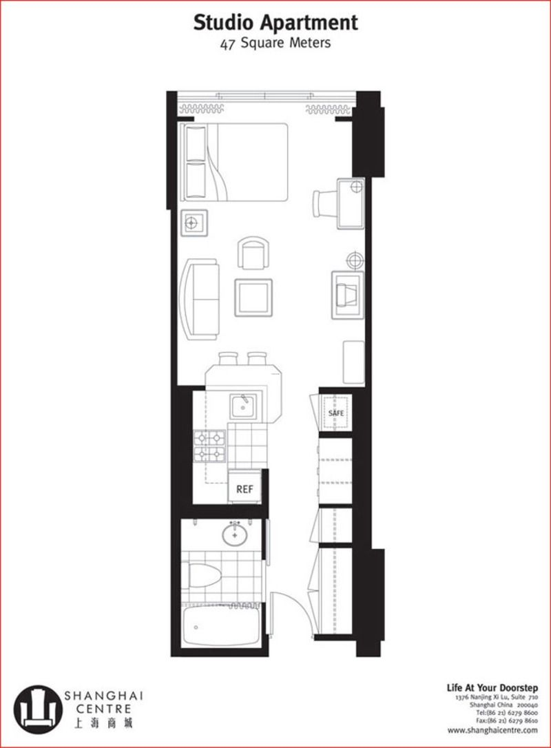 Long Narrow Apartment Floor Plans Small Apartment Plans Studio