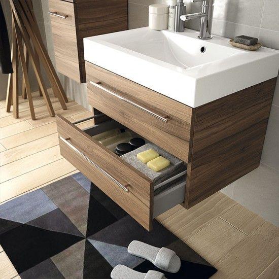 Mueble de ba o starlight salgar suspendido 70 cm con for Muebles de lavabo de 70 cm
