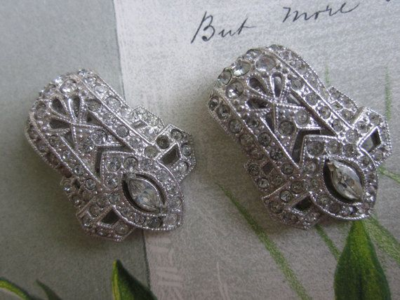 Hey, I found this really awesome Etsy listing at http://www.etsy.com/listing/99051429/2-matching-1920s-art-deco-rhinestone