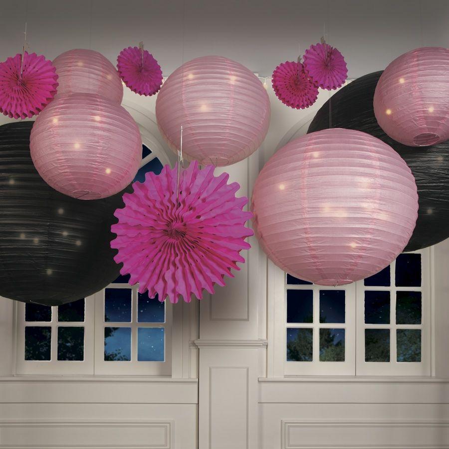 Pink Hanging Paper Lanterns | Bridal showers, Weddings and Wedding