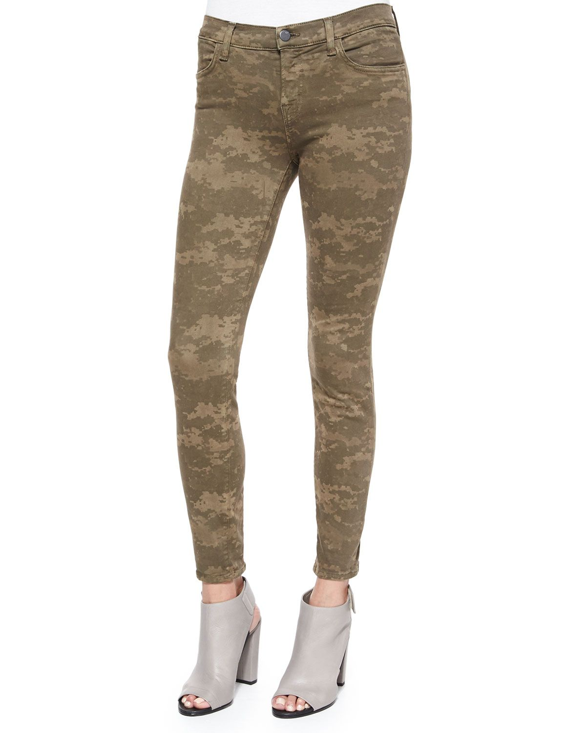 Midrise skinny jeans olive drab camo skinny jeans camo and skinny