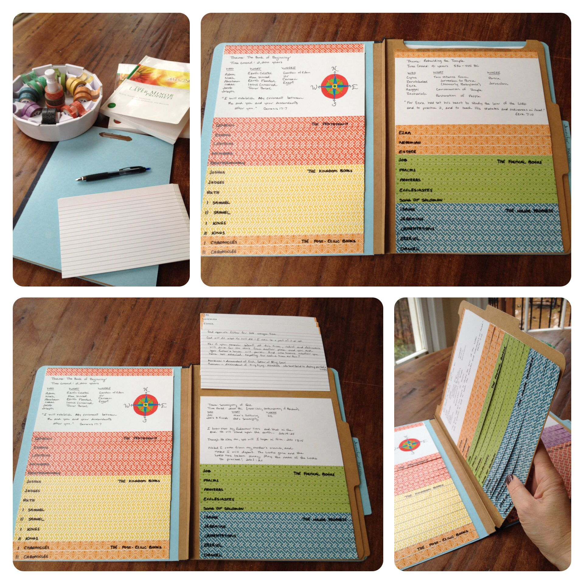 Printing On Index Cards: Create A Bible Flip Book. Tape 66 5x8 Index Cards (one For