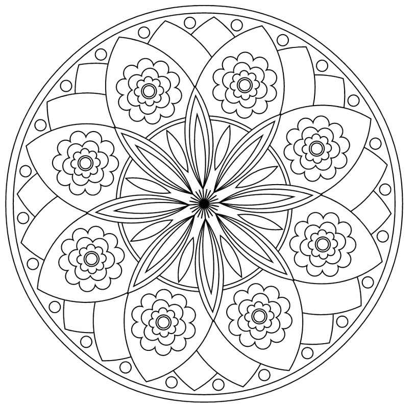 Mandala 506 Prayer Mandala Over 20 Different Patters To Color And