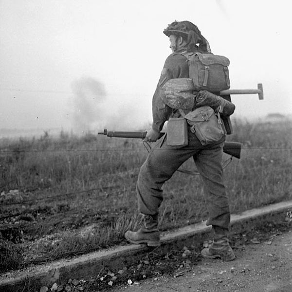 British lance corporal in full pack with No.4 rifle