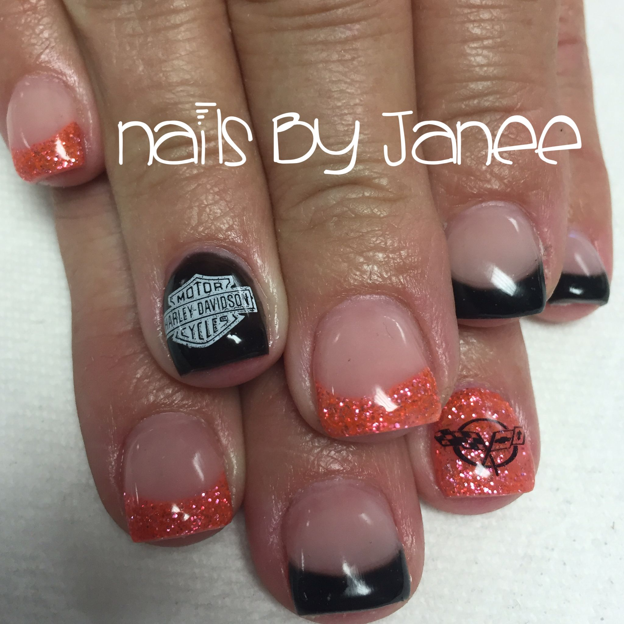 Harley Davidson Biker Nails Sassy Nails Sunflower Nails Tammy Nails