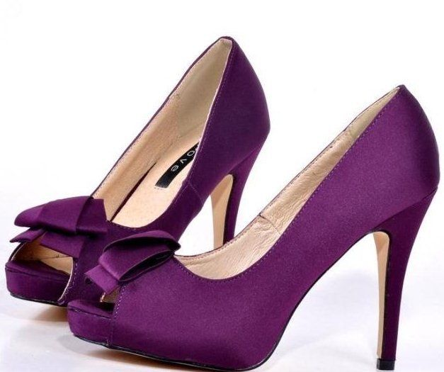 free shipping evening dress shoes high heel sandals peep toe wedding dress women shoes purple with flower t139-in Pumps from Shoes on Aliexpress.com