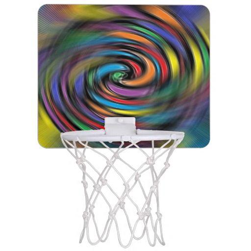 Colorful Vibrations Mini Basketball Hoop
