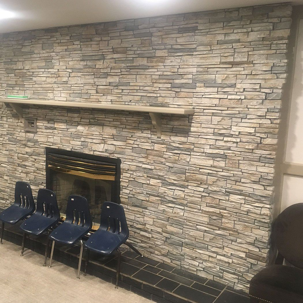 Stacked Stone 6x48 Panel Limestone Stacked Stone Walls