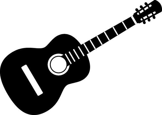 Guitarra, Instrumento, Acústica, Banda, Negro, Mono.
