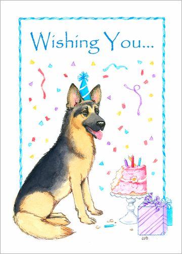 Free german shepherd birthday ecards