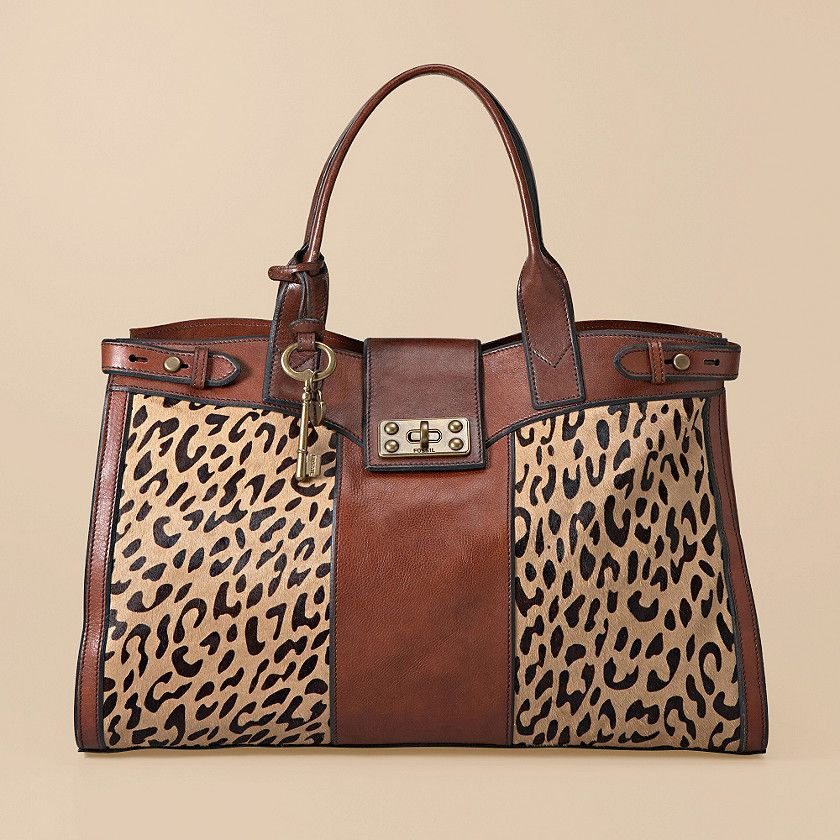 Fossil Cheetah Handbag