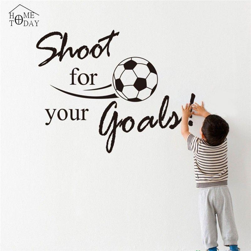 goedkope voetbal muurstickers citaten voetbal muurtattoo