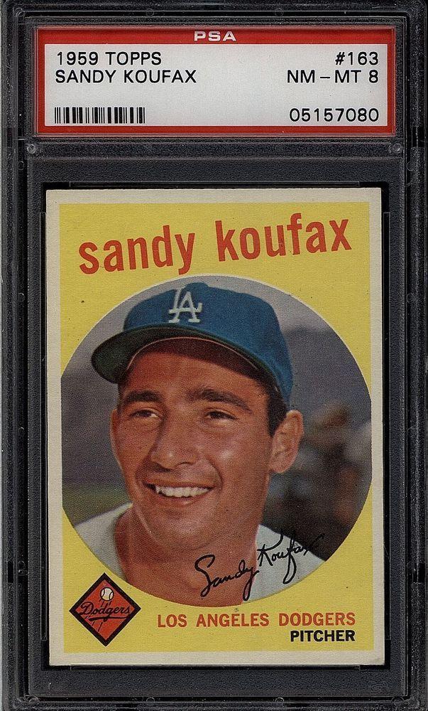 1959 Topps Set Break 163 Sandy Koufax PSA 8 NMMT 43682A